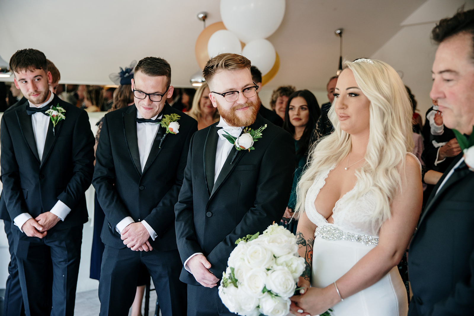 Wedding ceremony at a bar in manchester
