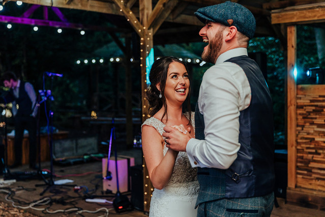 first dance outdoors at hazlewood castle