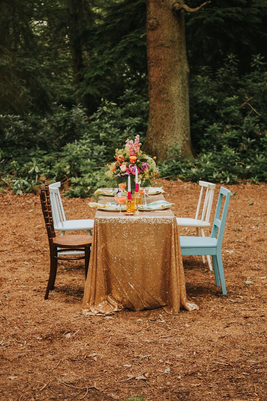 woodland styled wedding shoot
