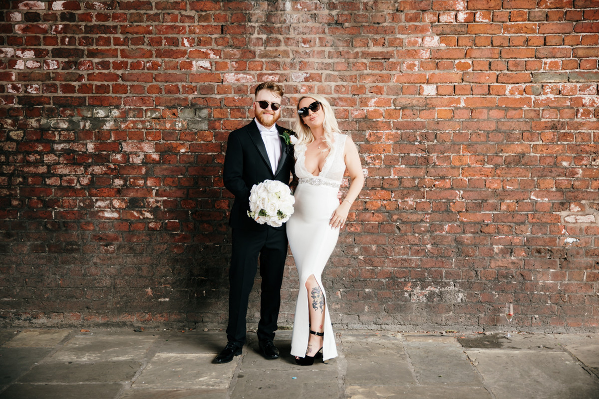 Bride and groom wedding photo in manchester
