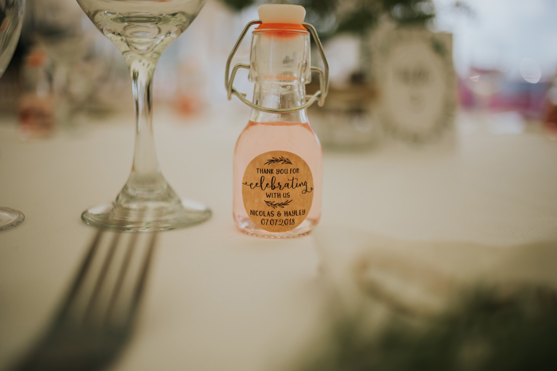 gin wedding favours