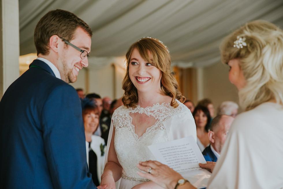 wedding ceremony at The Moorlands, Halifax
