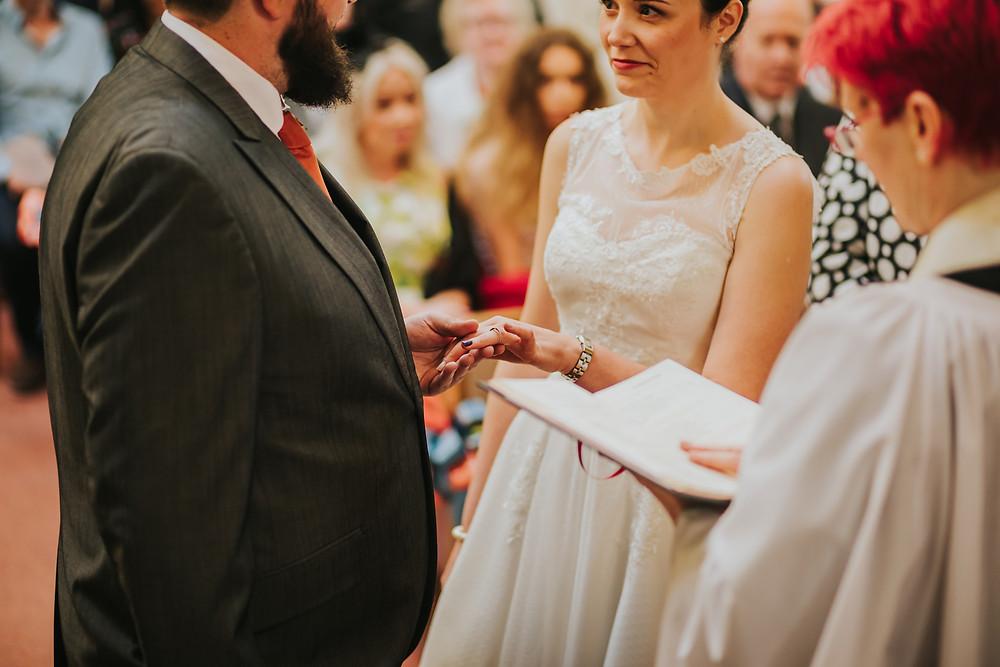 Wedding ceremony in West Yorkshire