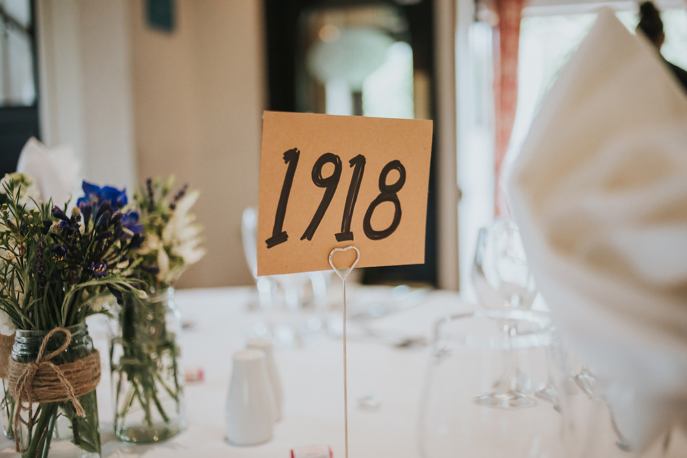 History themed wedding table decorations