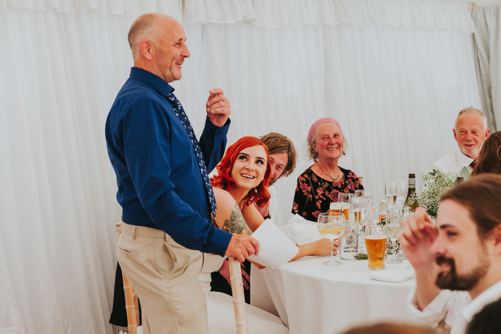 father of the bride giving a funny speech