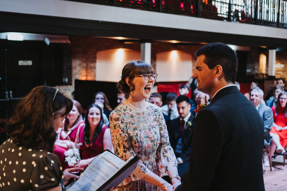 Wedding ceremony at the engine shed, wetherby