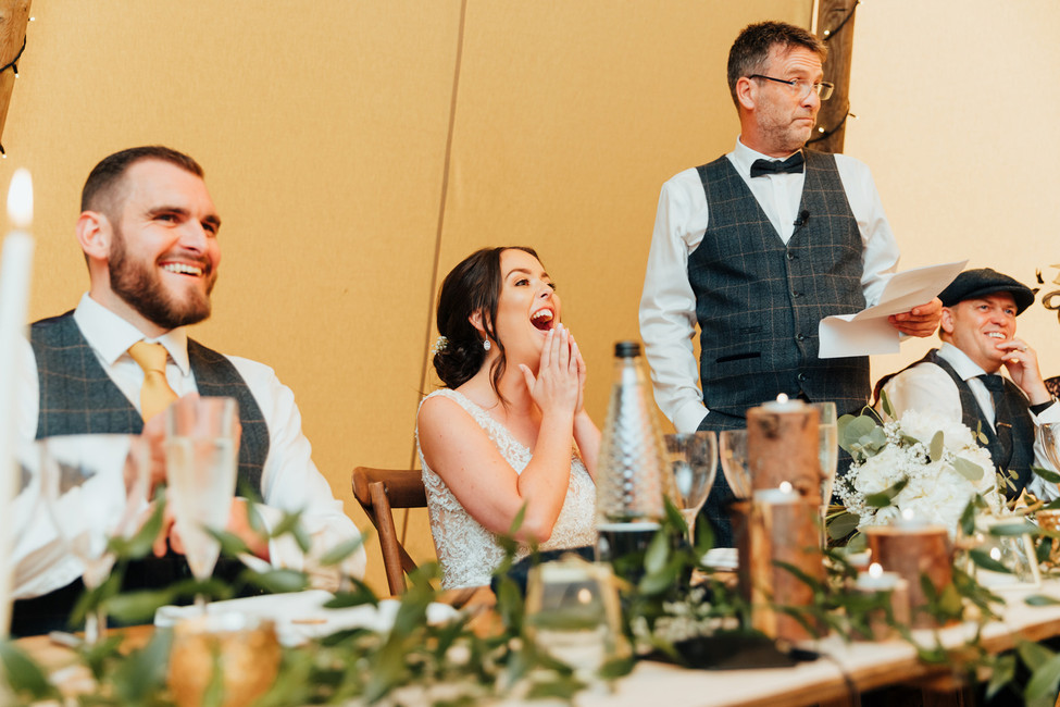 tipi wedding at hazlewood castle