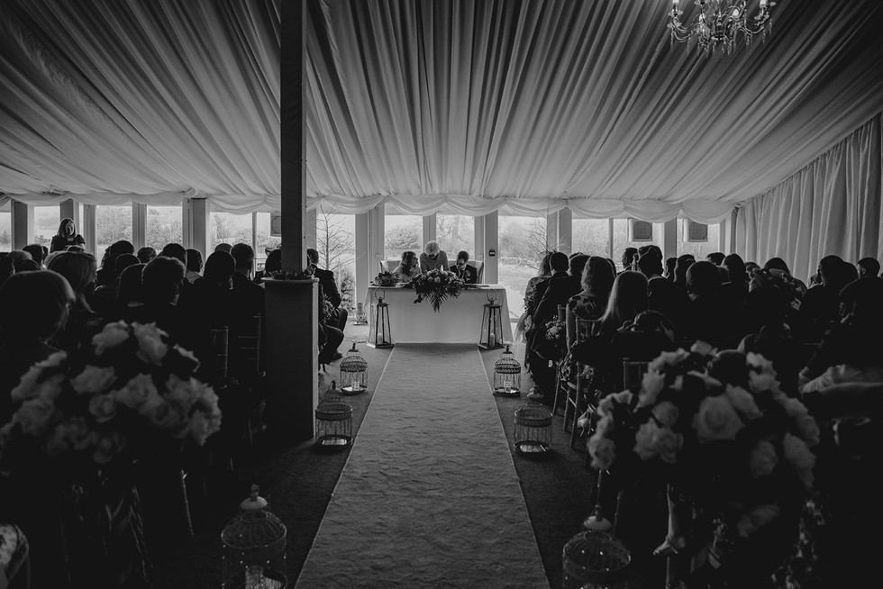Wedding marquee at the Moorlands, halifax
