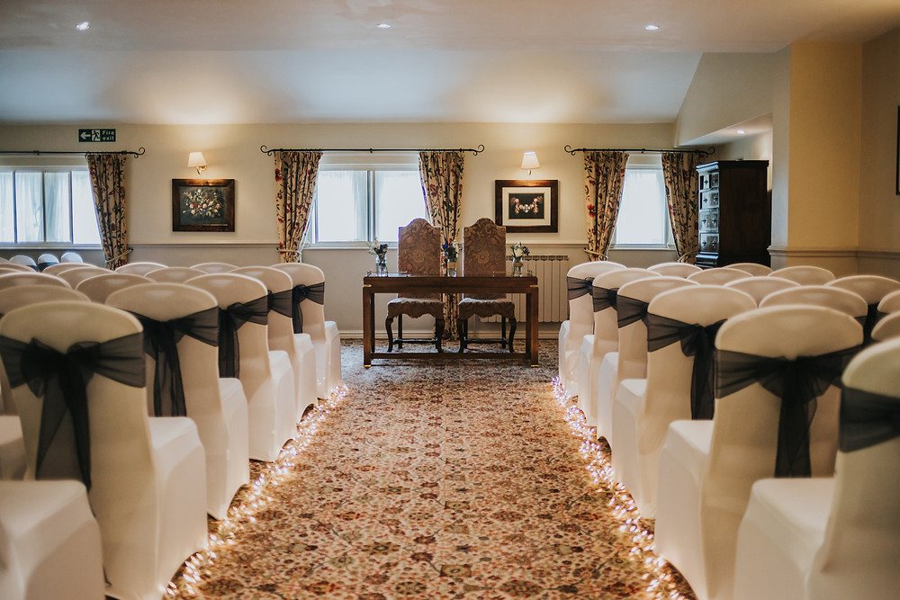 ceremony room at holdsworth house