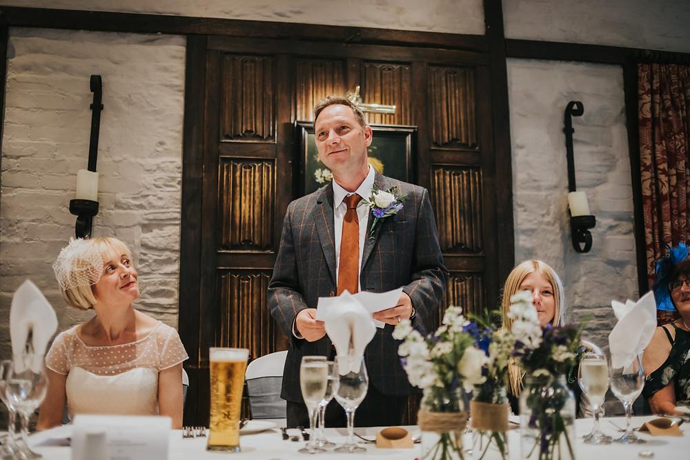 groom doing a speech