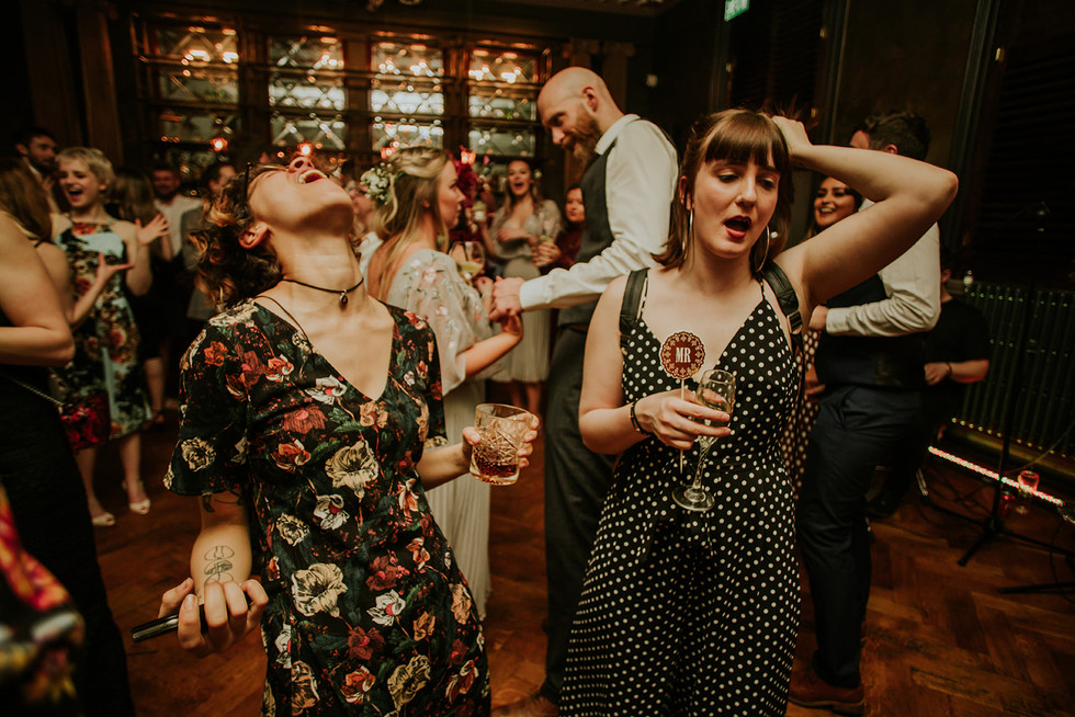 drunk guests dancing and partying at the lost and found leeds club