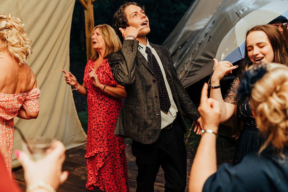 Wedding Tipi at Hazlewood Castle