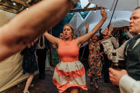 Guests dancing at Hazlewood castle