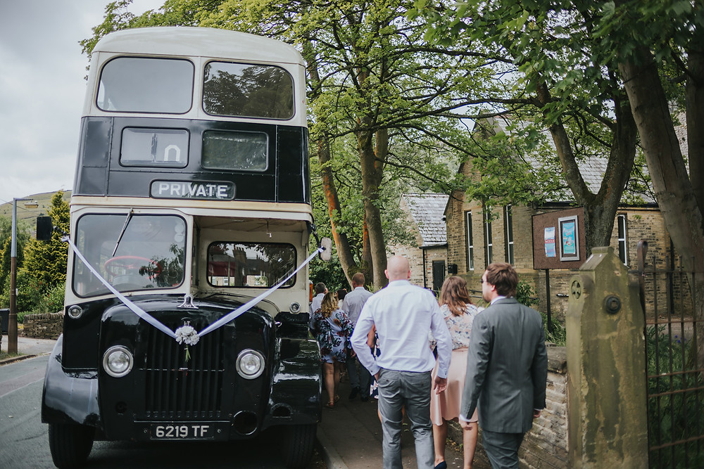 vintage wedding bus west yorkshire