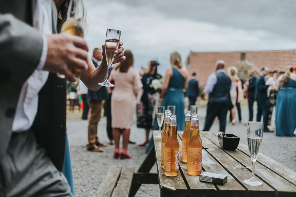 Wedding drinks outside