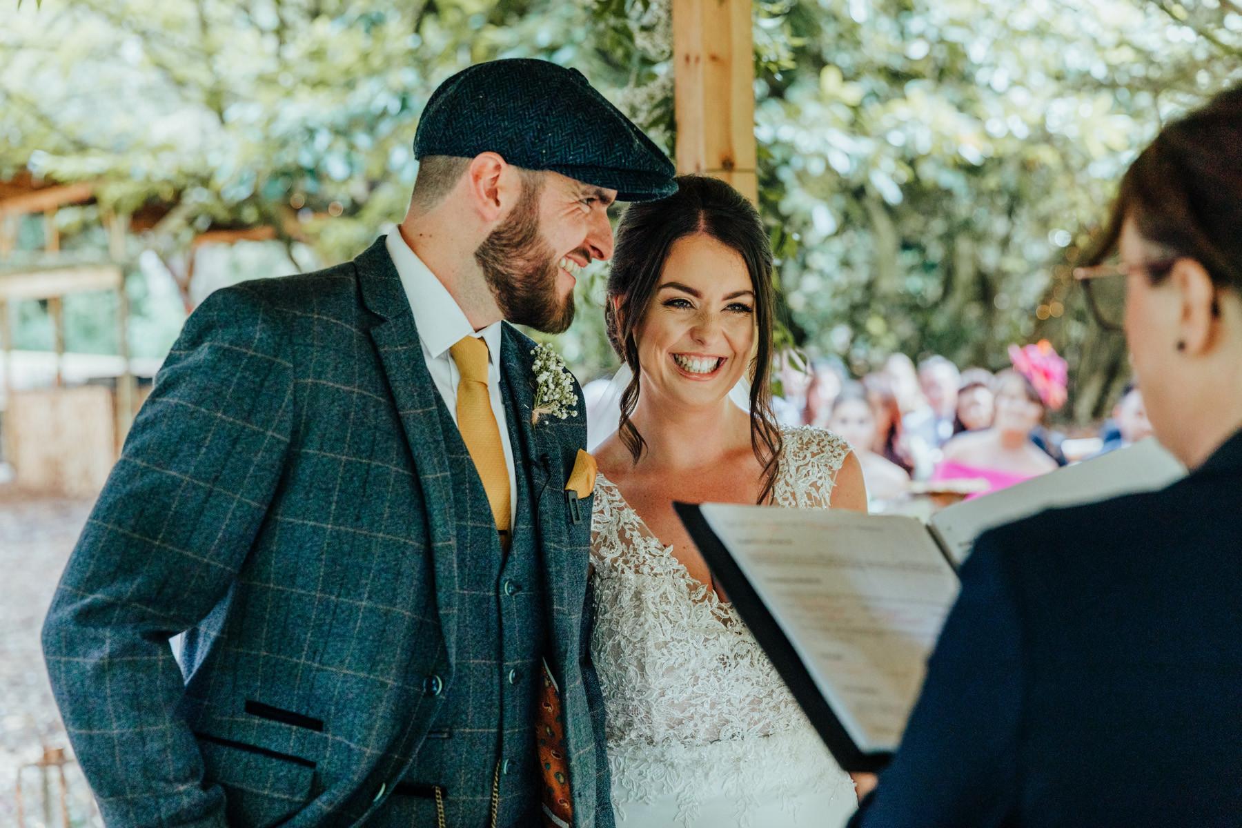 outdoor wedding at hazlewood castle woodland wedding venue
