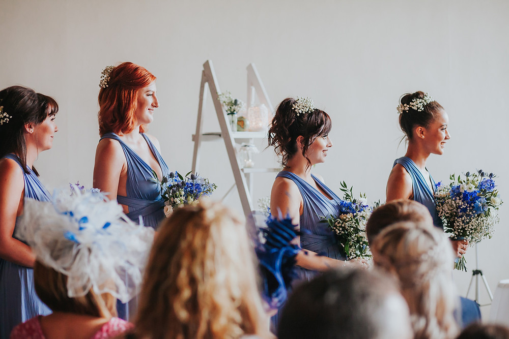 Bridesmaids at The Arches west yorkshire wedding