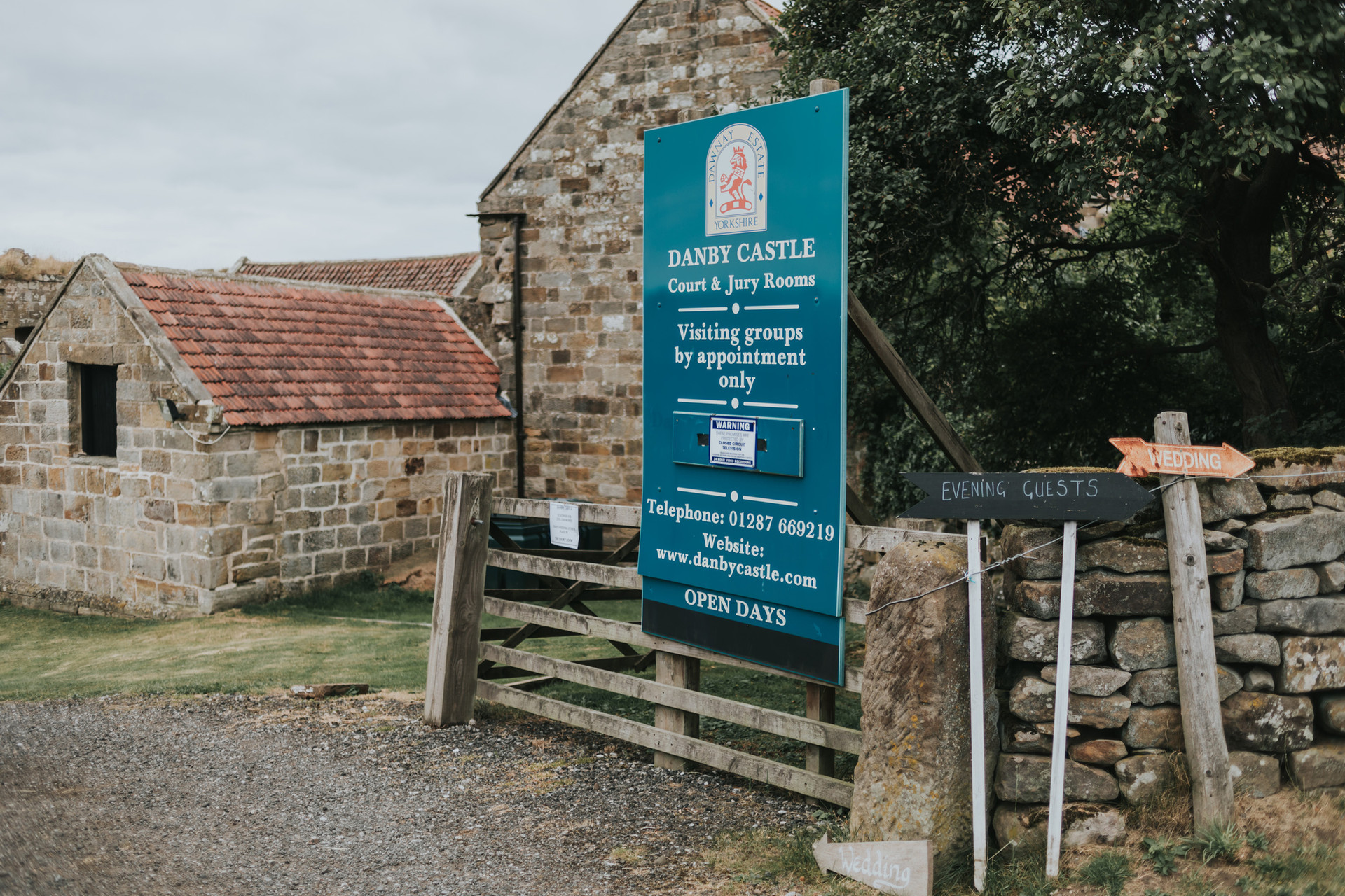 Entrance sign to Danby Castle, Whitby