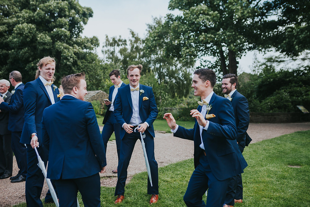 Groomsmen at wedding, Halifax West Yorkshire