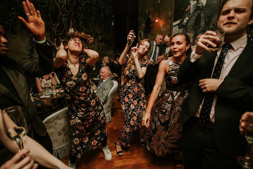 Dancing at a wedding in Leeds