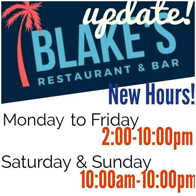 And remember, New Hours!!_A Lago the men