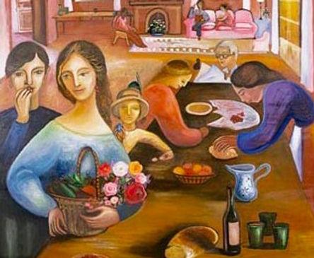 Margherita Agnelli, Le soir, 2001, Oil on canvas - Huile sur toile, 146x114cm_edited.jpg