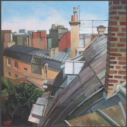 Arno Boueilh, Toits, 50x50, Oil_Canvas.jpg