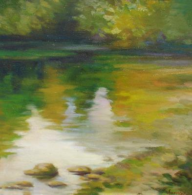 Vanya Ferrara, Sur le rivage du Shannon, 33x33, Oil_Canvas carton_edited.jpg