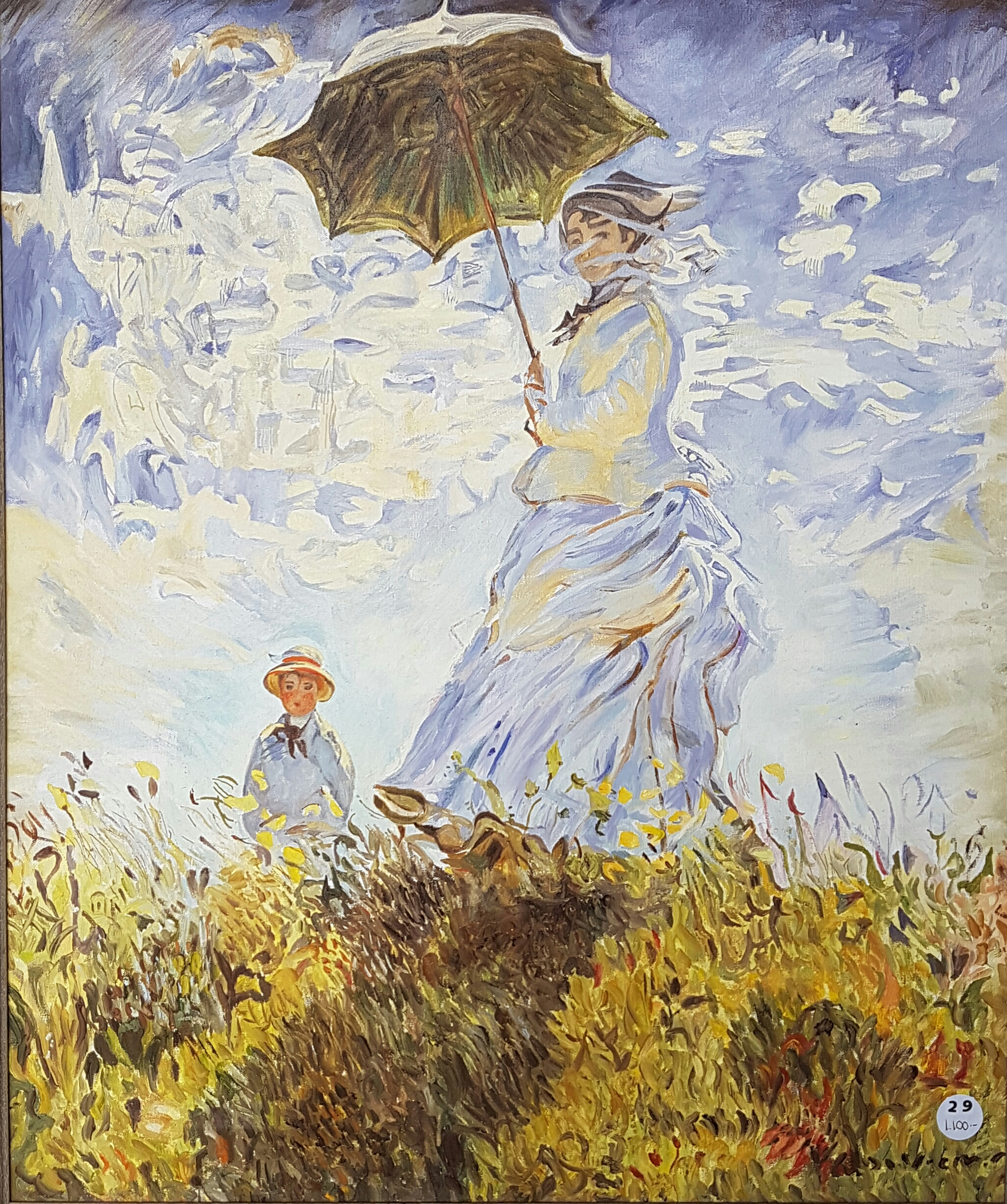 Nadia Forsell d'apres Monet - Femme a l'ombrelle.jpg