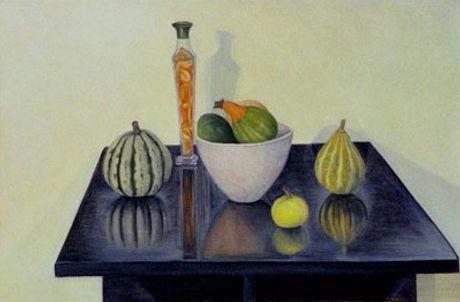 Diane Mah, Still life reflection - Composition aux reflets, 2001, Oil on canvas - Huile sur toile, 5