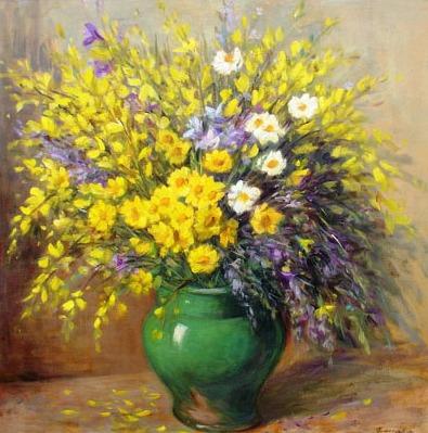 Vanya Ferrara, Genets et fleurs des champs, 70x70, Oil_Canvas_edited.jpg