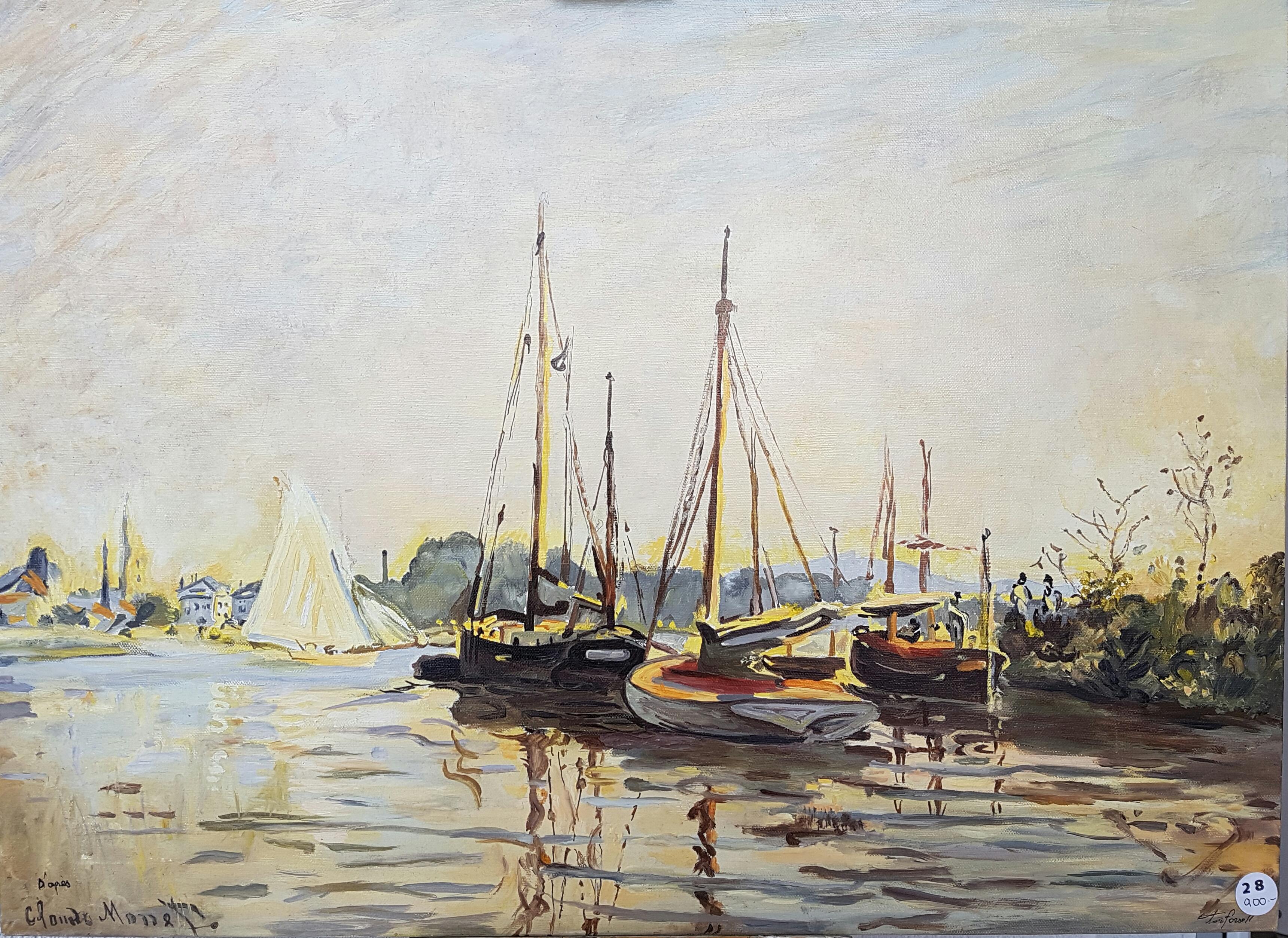 Nadia Forsell d'apres Monet - barques de plaisance.jpg
