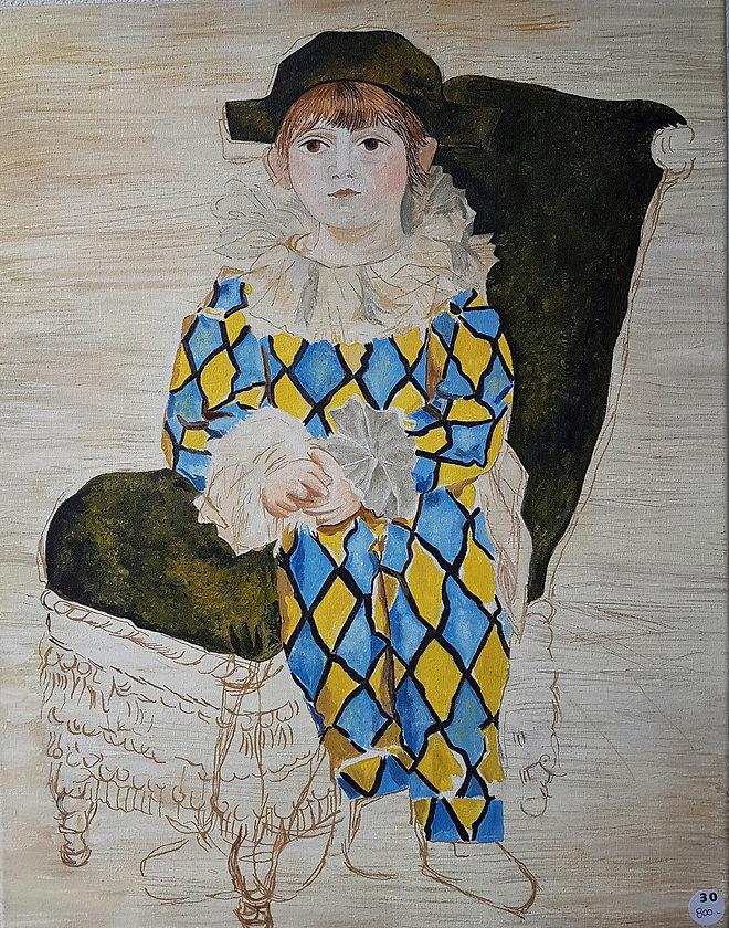 Nadia Forsell d'apres Picasso - Paul en arlequin.jpg