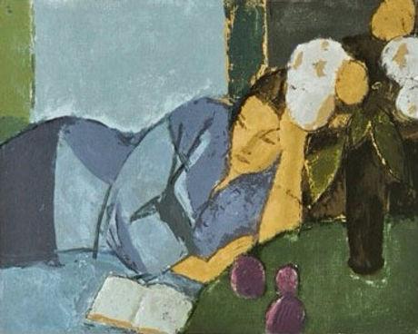 Aldo Salvadori, Interno blu, 1985 Christie's Londres, Paper _ Papier 290g, 22 colors _ couleurs, 31x