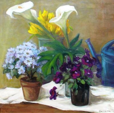 Vanya Ferrara, L'arrosoir bleu, 60x60, Oil_Canvas_edited.jpg