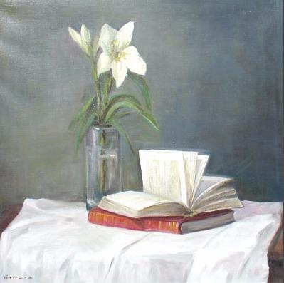 Vanya Ferrara, Le livre rouge, 60x60, Oil_Canvas_edited.jpg