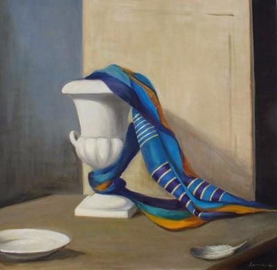 Vanya Ferrara, Le foulard bleu, 70x70, Oil_Canvas_edited.jpg