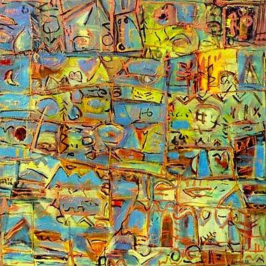 Umberto Albanese, The voyage of Orpheus I, 2000, Acrylic on medium density - Acrylique sur panneau,