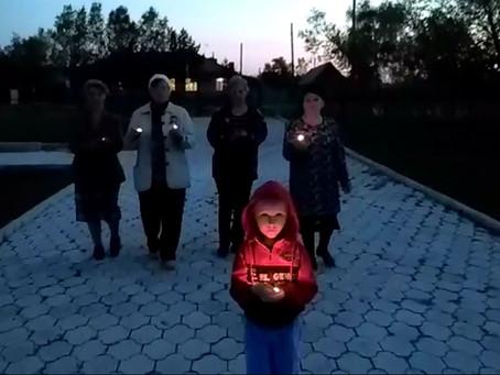 Свеча Памяти в  селе  Журавка  Чистоозёрного района
