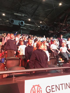 Young Voices - getting ready for the performance