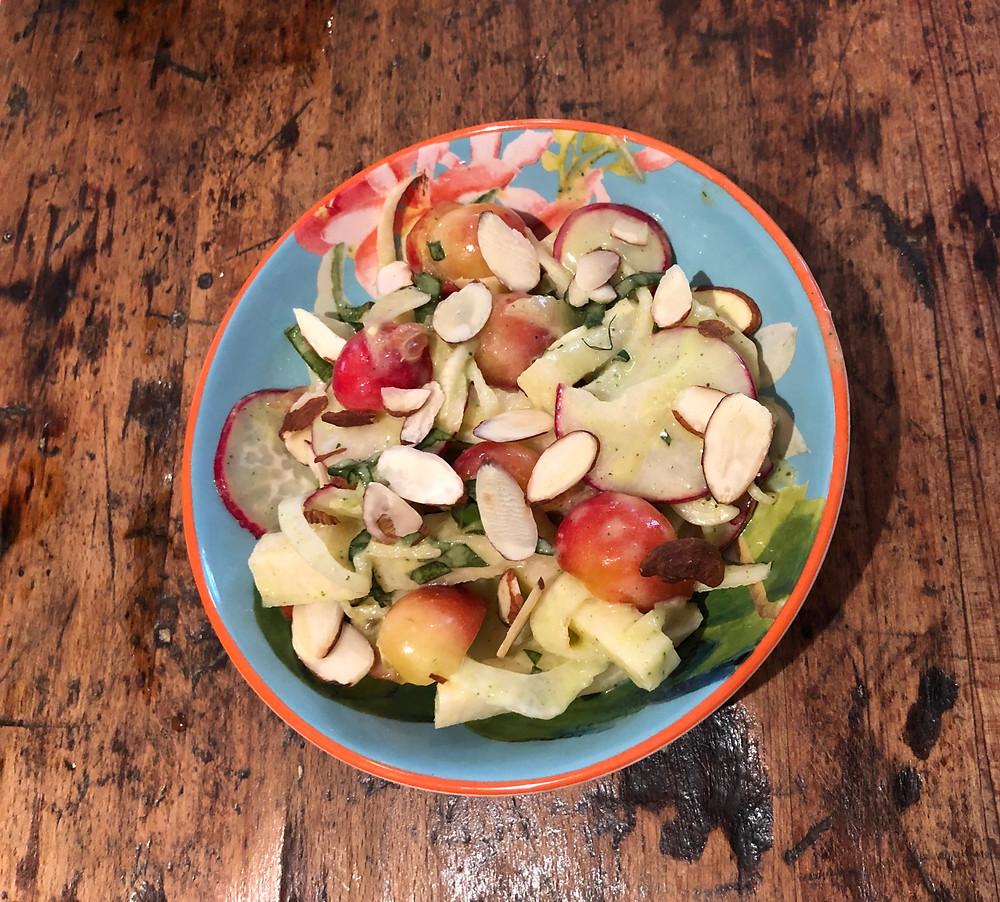 jicama, herbs, refreshing, salad
