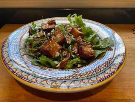Compensation Cuisine - Pork Belly Salad With Orange Fennel Dressing