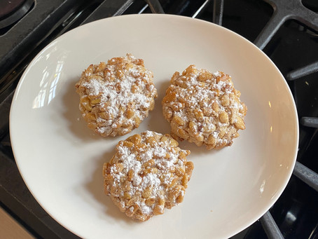 Coffee With Evelyn And My Kids - Pignoli Cookies