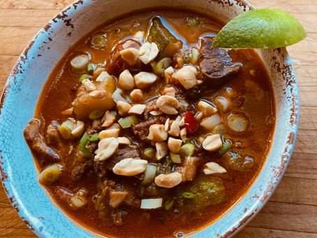 Wistfully West African-Ghanaian Beef & Groundnut (Peanut) Stew