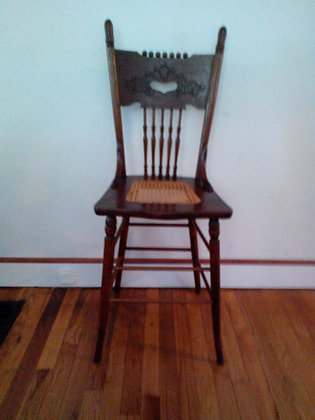 Vintage High Back Chair w/ Cane Seat