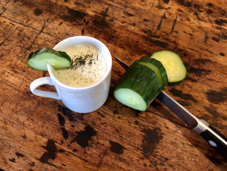 Amuse-ing Summer - Cold Cucumber Soup Shooters
