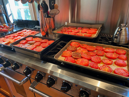 Garden Gifts In A Pandemic Summer - Tomato Conserva & Zucchini Chips