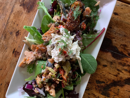Decadence, Detox & Dill - Smoked Salmon Salad