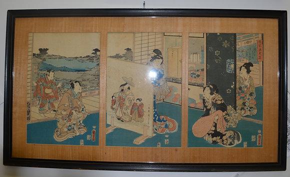 Japanese Woodblock by Taiso Yoshitoshi, dated 1863