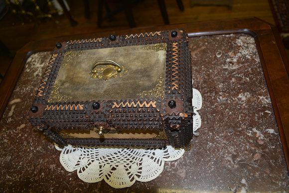 Tramp Art Box - late 1800's